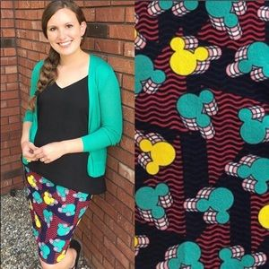 ♦️2/$30 Disney Mickey Mouse Cassie Skirt LuLaRoe